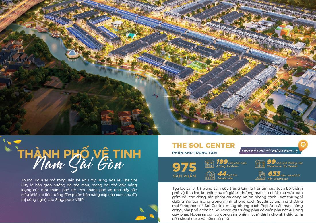 The Sol City - Thành Phố Vệ Tinh Nam Sài Gòn - CĐT Thắng Lợi Group